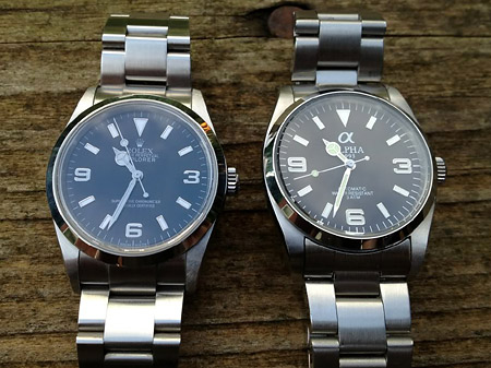 Alpha Explorer Vs Rolex 14270