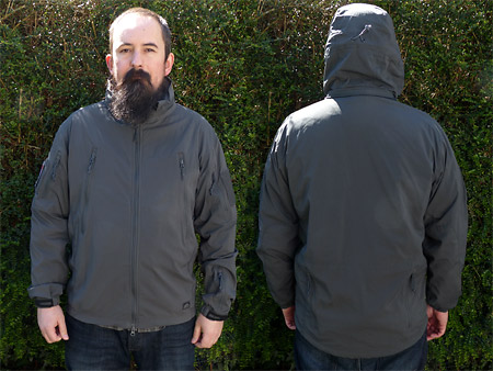 Softshell Helikon Tex Trooper portée